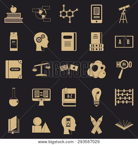 Answers On Questions Icons Set. Simple Set Of 25 Answers On Questions Vector Icons For Web For Any D
