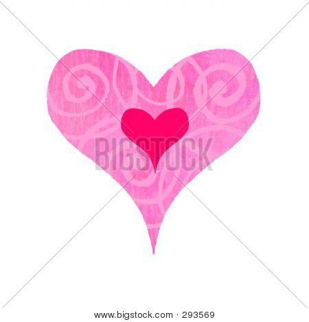 Groovy Heart - Swirly