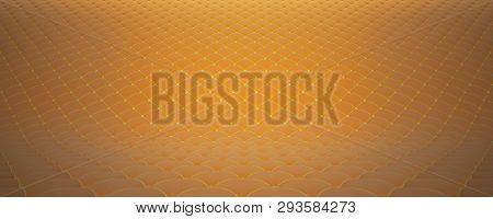 Quilted Fabric Surface. Orange Velvet And Yellow Velvet. Option 2