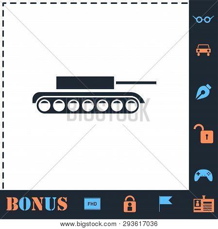 Tank. Perfect Icon With Bonus Simple Icons