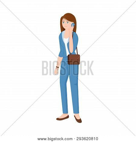 Vector Design Of Woman  And Business Icon. Set Of Woman  And Businessperson Stock Symbol For Web.
