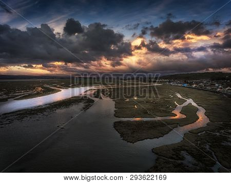 Editorial Swansea, Uk - April 04, 2019: The Village Of Penclawdd In Swansea, South Wales, Uk, Renown