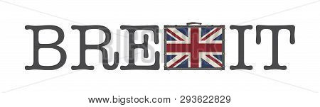 Brexit Illustration Isolated On The White Background