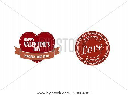 Valentines Day Retro Stickers