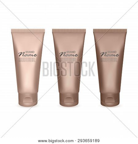 Set Of Tonal Cream Jars From Light To Very Dark, 3d Illustration Of Package Design For Tonal Basis,