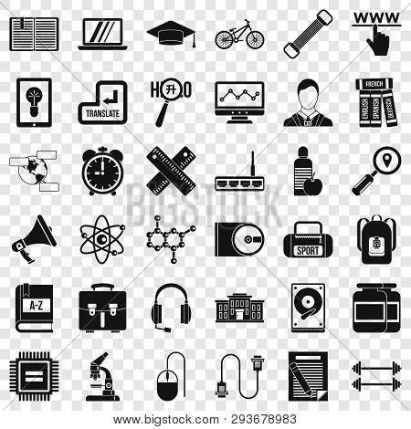 Business Seminar Icons Set. Simple Style Of 36 Business Seminar Vector Icons For Web For Any Design
