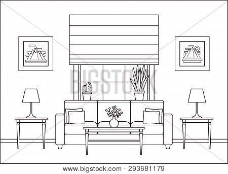 Living Room Interior Vector Photo Free Trial Bigstock