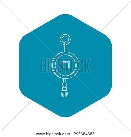 Feng Shui Chinese Coin With Hole Icon. Outline Illustration Of Feng Shui Chinese Coin With Hole Vect