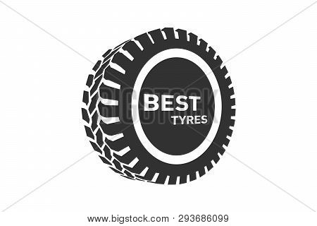 Tyre Shop Logo Design. Tyres Wheel Business Branding, Tyre Logo Shop Icons, Tire Icons, Car Tire Sim