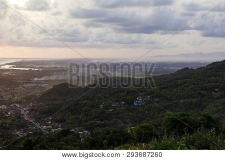 Beautiful View Of Bantul From Paragliding Hill Watugupit