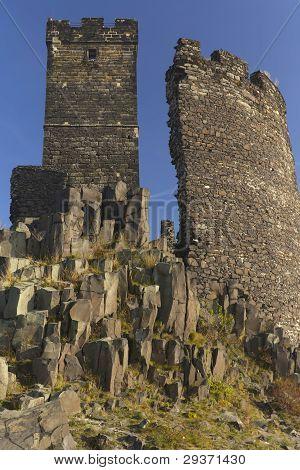 Ruin Of State Castle named Hazmburk (Czech Republic)