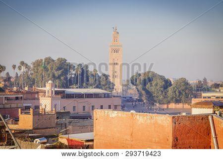 Koutoubia Mosque In Marrakesh. Marrakesh, Marrakesh-safi, Morocco.