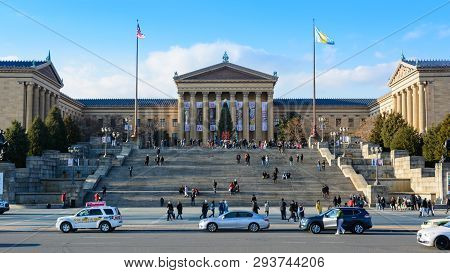 Philadelphia -january 2: The Philadelphia Pennsylvania Museum Of Art On January 2, 2018. It Is Among