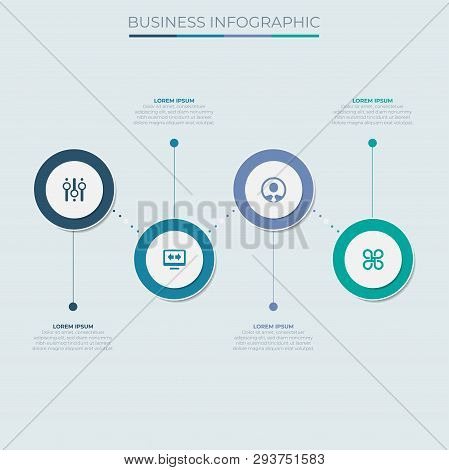 Concept Graphic Element. Concept Business Strategy. Infochart, Diagram Timeline Infographic Template