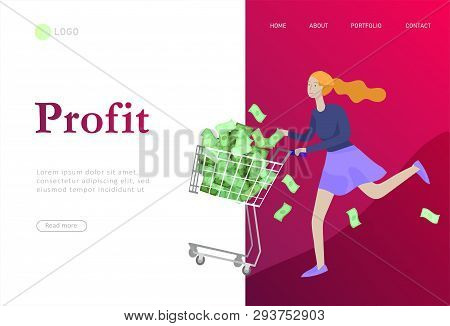 Landing Page Template Vector & Photo (Free Trial) | Bigstock