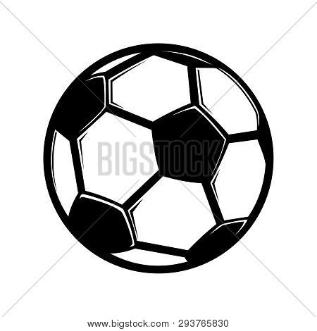 Soccer Ball Vector Icon Flat Style Illustration For Web, Mobile, Logo, Application And Graphic Desig