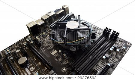 Computer Motherboard and CPU Cooler
