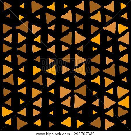 Abstract Geometric Gold Scribbles Pattern With Dot