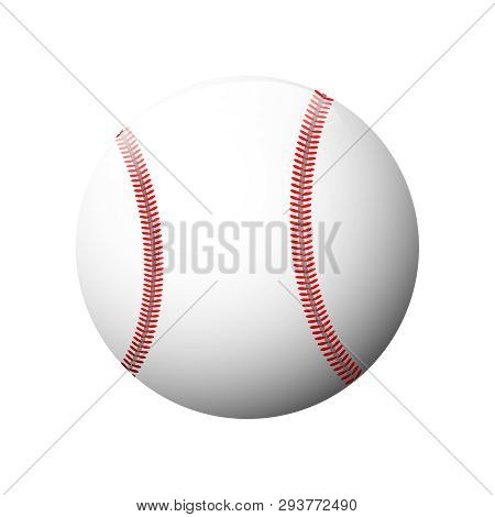 Baseball Icon In Trendy Design Style. Baseball Icon Isolated On White Background. Ball Icon Vector I