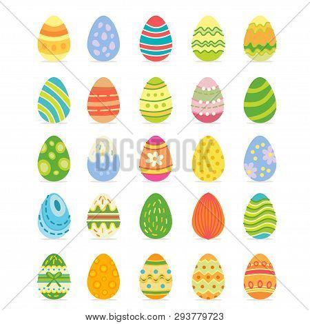 Easter Realistic Egg Set. Egg Hunt Sunday.