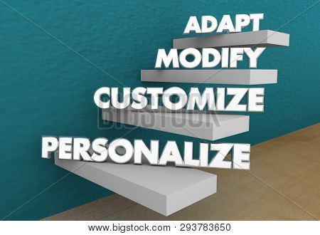 Adapt Modify Customize Personalize Special Order 3d Illustration