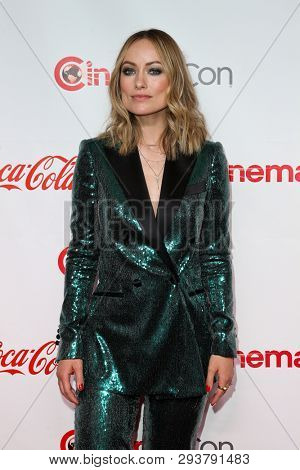 LAS VEGAS - APR 4: Olivia Wilde attends The CinemaCon Big Screen Achievement Awards at OMNIA Nightclub at Caesars Palace during CinemaCon on April 4, 2019 in Las Vegas, Nevada.