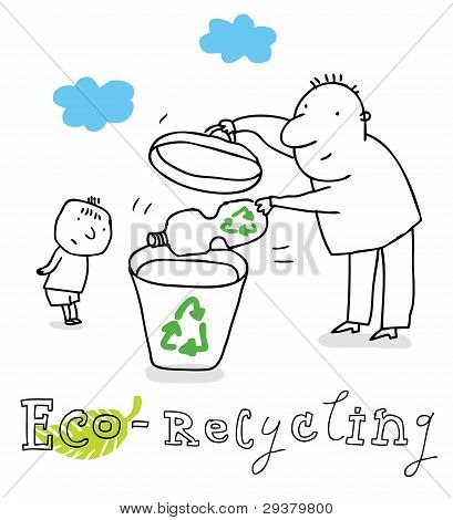 Eco recycling, vector drawing Eco_recycling.eps