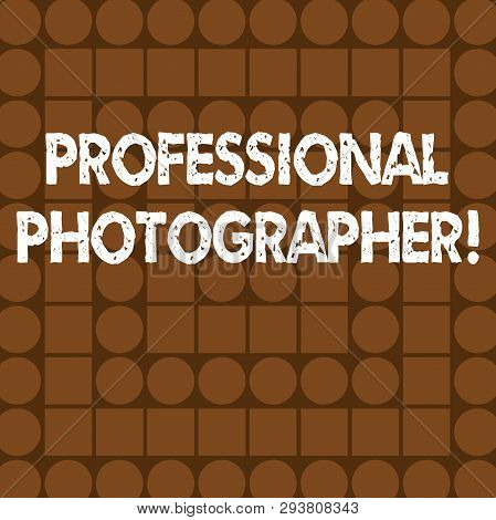 Word Writing Text Professional Photographer. Business Concept For Demonstrating Who Takes Photograph
