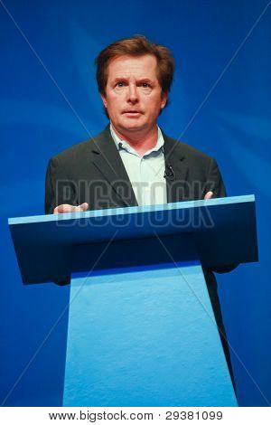 Orlando, Florida - January 16, 2012: Actor Michael J. Fox Delivers An Address To Ibm Lotusphere 2012