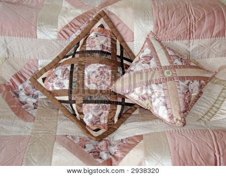 Two Quilted Pillows