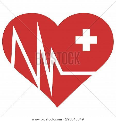 Heart Shape Defibrillator Revive Save Shock Medic Illustration
