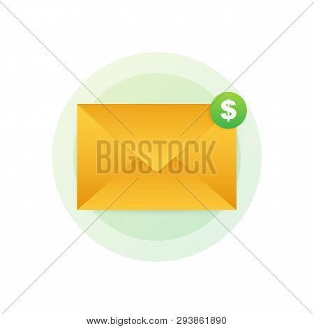 Email Marketing Icon. Newsletter Marketing, Email Subscription. Vector Stock Illustration.