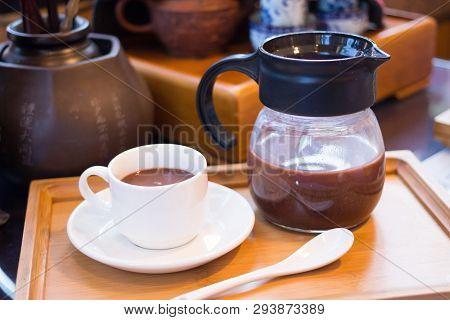 Hot Dark Milk Chocolate Cup With Teapot