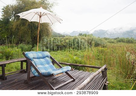 Rest Chair For Relax In The Morning Garden