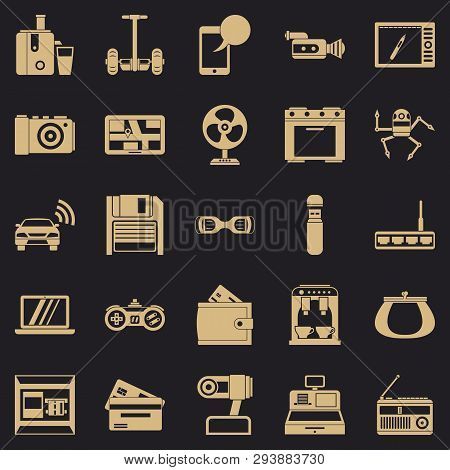 Camcorder Buying Icons Set. Simple Set Of 25 Camcorder Buying Vector Icons For Web For Any Design