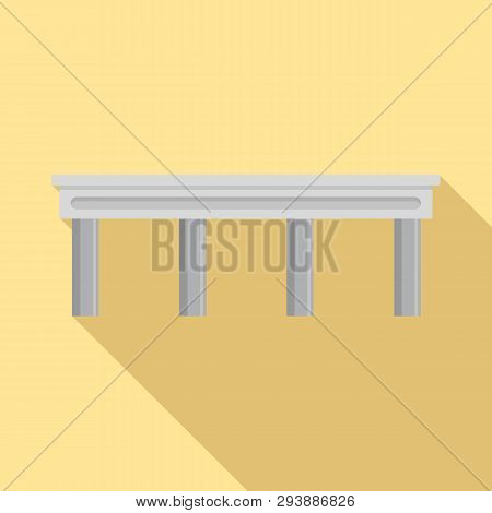 Autobahn Bridge Icon. Flat Illustration Of Autobahn Bridge Vector Icon For Web Design