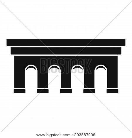 Beton Bridge Icon. Simple Illustration Of Beton Bridge Vector Icon For Web Design Isolated On White