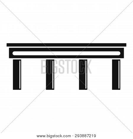 Autobahn Bridge Icon. Simple Illustration Of Autobahn Bridge Vector Icon For Web Design Isolated On