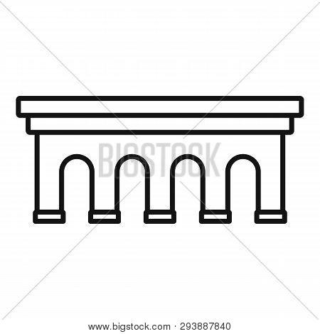 Beton Bridge Icon. Outline Beton Bridge Vector Icon For Web Design Isolated On White Background