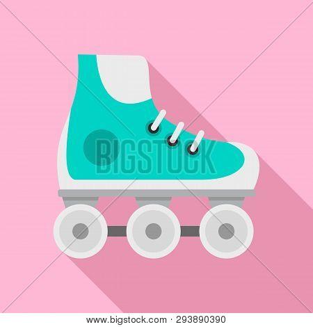 Kid Inline Skates Icon. Flat Illustration Of Kid Inline Skates Vector Icon For Web Design