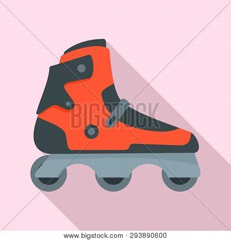Indoor Inline Skates Icon. Flat Illustration Of Indoor Inline Skates Vector Icon For Web Design