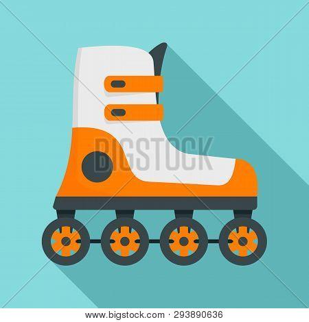 Race Inline Skates Icon. Flat Illustration Of Race Inline Skates Vector Icon For Web Design
