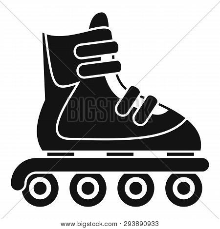 Inline Skates Icon. Simple Illustration Of Inline Skates Vector Icon For Web Design Isolated On Whit