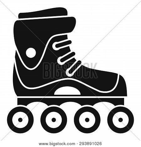 Freestyle Inline Skates Icon. Simple Illustration Of Freestyle Inline Skates Vector Icon For Web Des