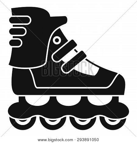 Sport Inline Skates Icon. Simple Illustration Of Sport Inline Skates Vector Icon For Web Design Isol