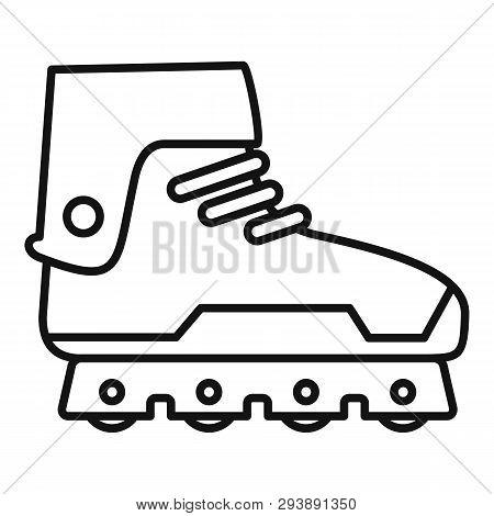 Professional Inline Skates Icon. Outline Professional Inline Skates Vector Icon For Web Design Isola