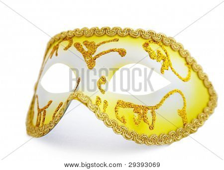 isolated yellow mask on whit background