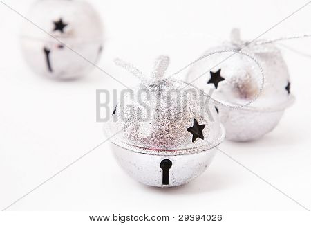 jingle bells on white background.