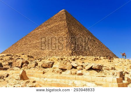 The Great Pyramid Of Cheops In Giza, Egypt