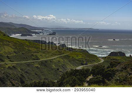 Coastline Views Off Hwy 1 In Northern California